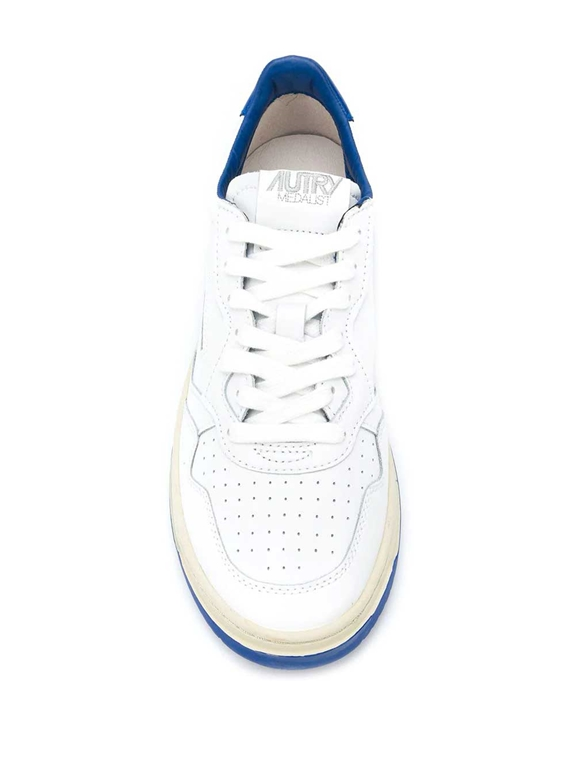 Autry - Scarpe - Sneakers - low bicolor leat bianca-blu 1