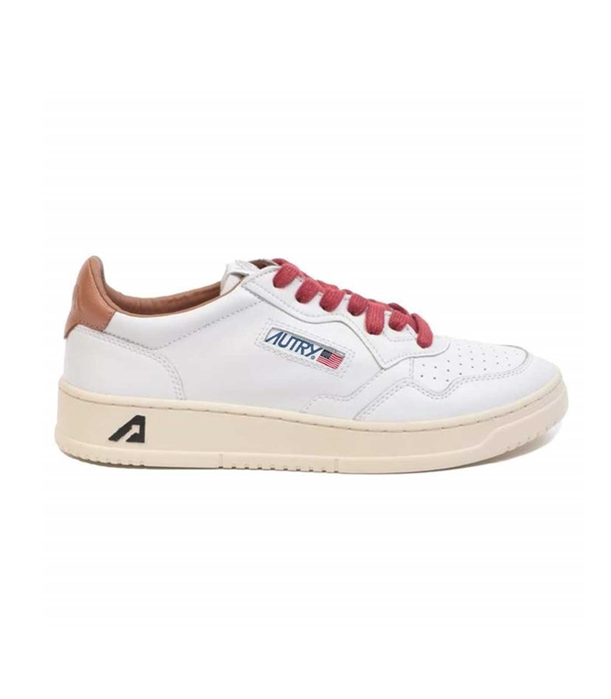 Autry - Scarpe - Sneakers - LOW LEAT BIANCA-TABACCO