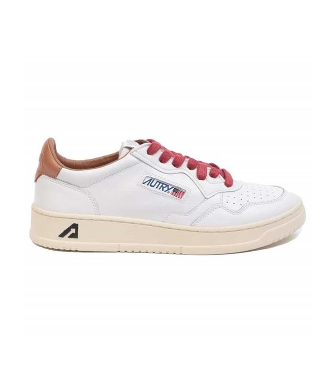 Autry - Scarpe - Sneakers - LOW LEAT BIANCA-TABACCO