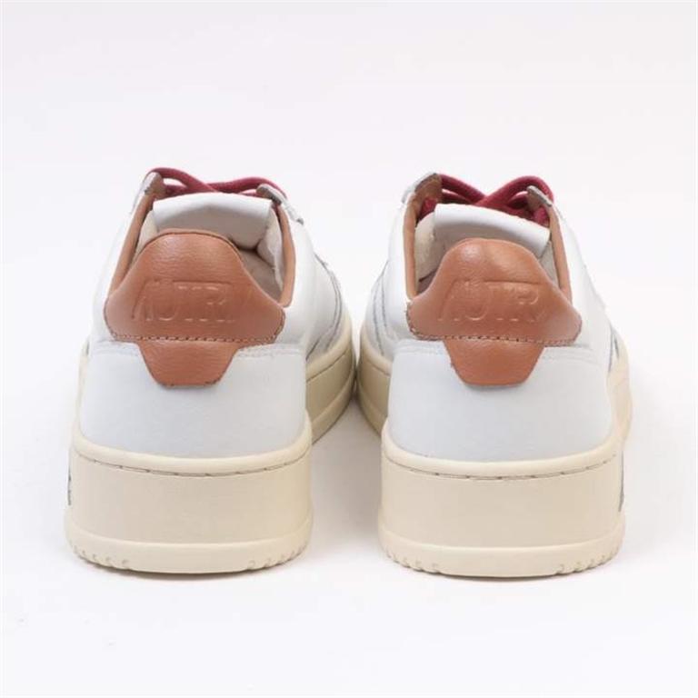Autry - Scarpe - Sneakers - low leat bianca-tabacco 1
