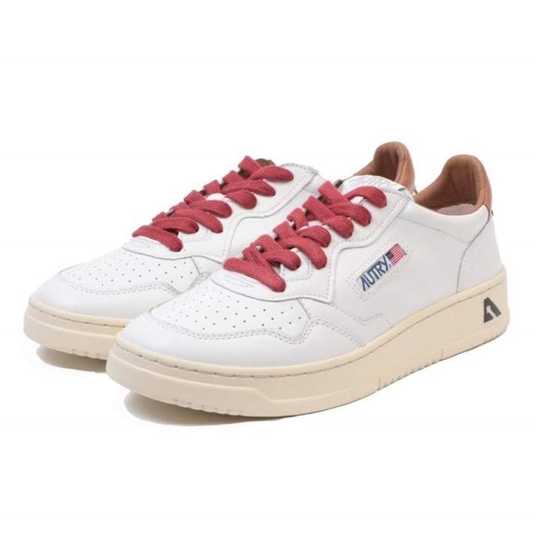 Autry - Scarpe - Sneakers - low leat bianca-tabacco 2