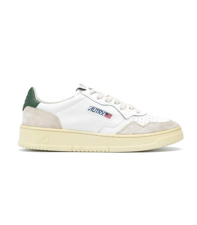 Autry - Scarpe - Sneakers - LOW LEAT SUEDE BIANCA-VERDE