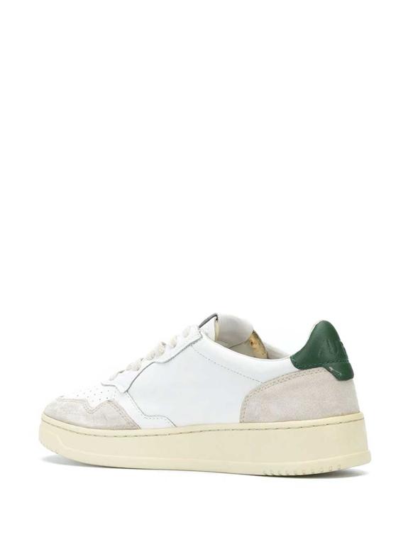 Autry - Scarpe - Sneakers - low leat suede bianca-verde 2