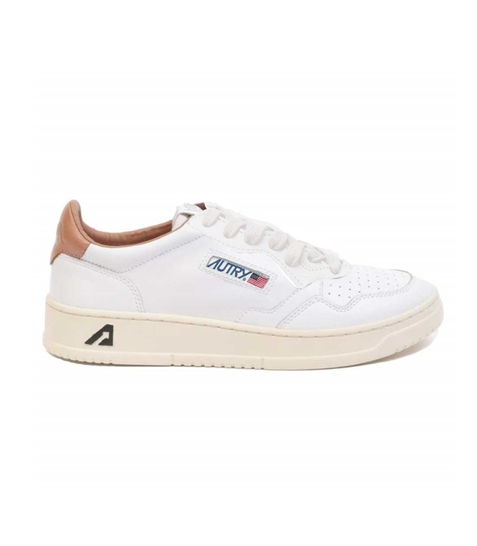 Autry - Scarpe - Sneakers - LOW LEAT CRACK BIANCA-TABACCO