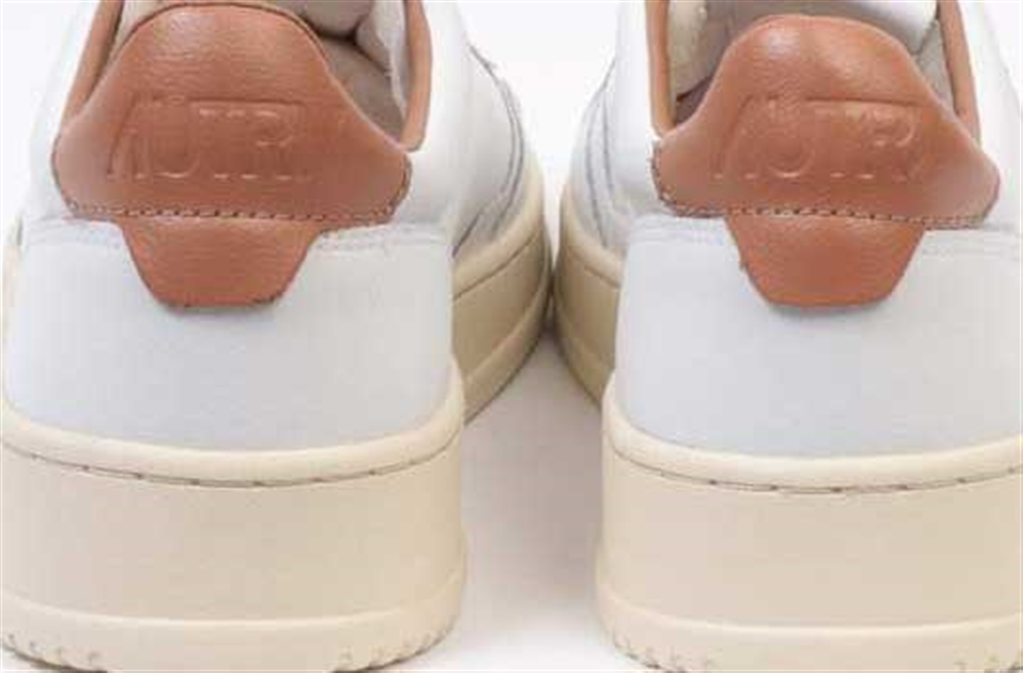 Autry - Scarpe - Sneakers - low leat crack bianca-tabacco 1