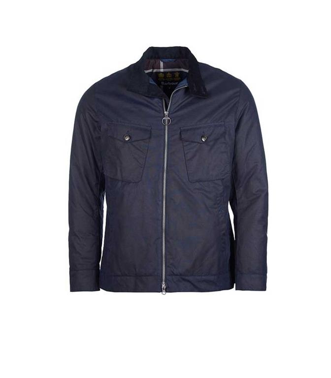 Barbour - Giubbotti - giacca weldon wax blu navy