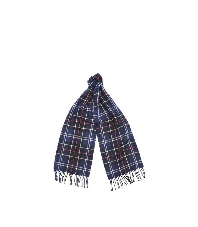 Barbour - Sciarpa - sciarpa in lana tartan rossa-blu