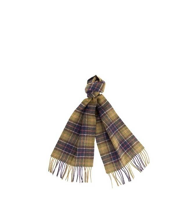 Barbour - Sciarpa - sciarpa in lana tartan verde