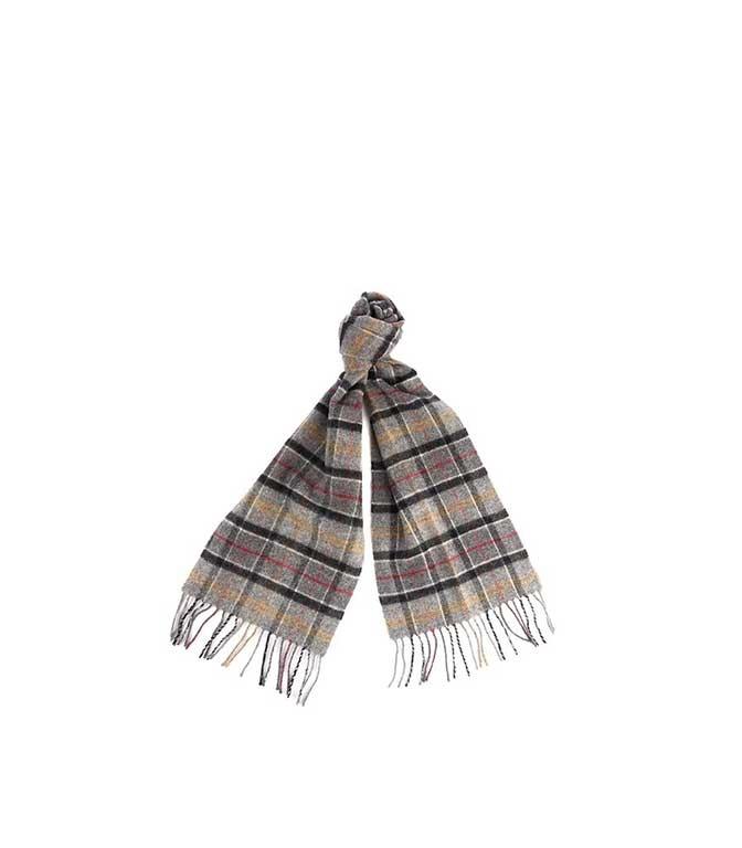 Barbour - Sciarpa - sciarpa in lana tartan grigia