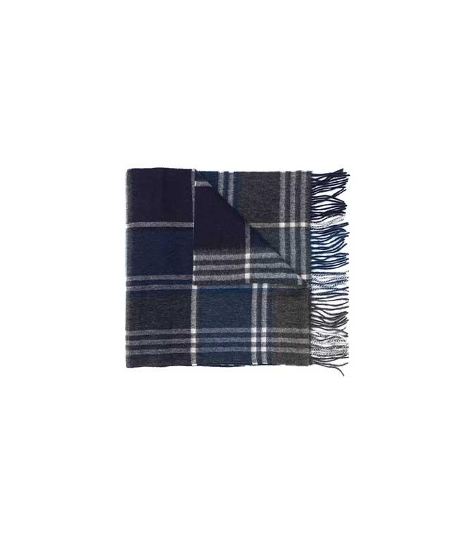 Barbour - Sciarpa - sciarpa kindar check grigia-blu
