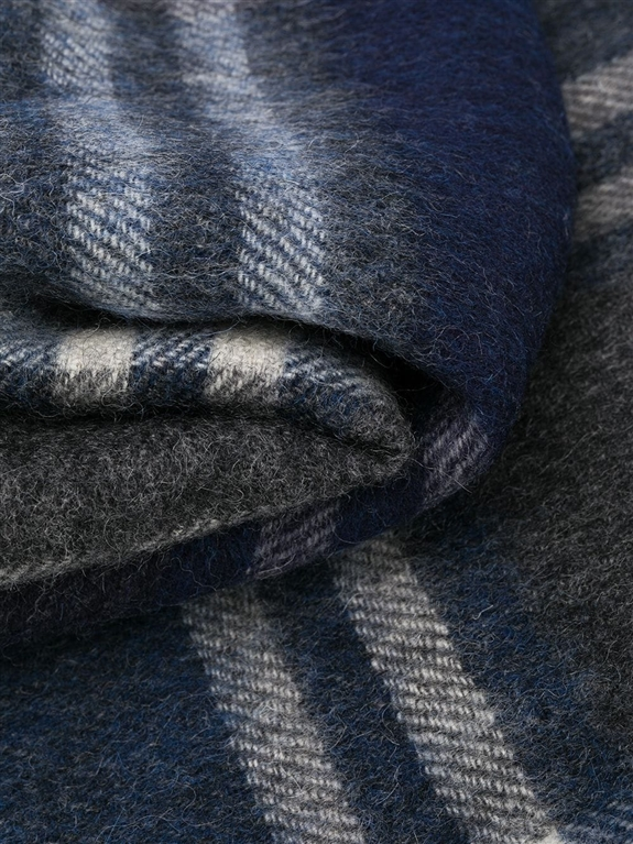 Barbour - Sciarpa - sciarpa kindar check grigia-blu 1