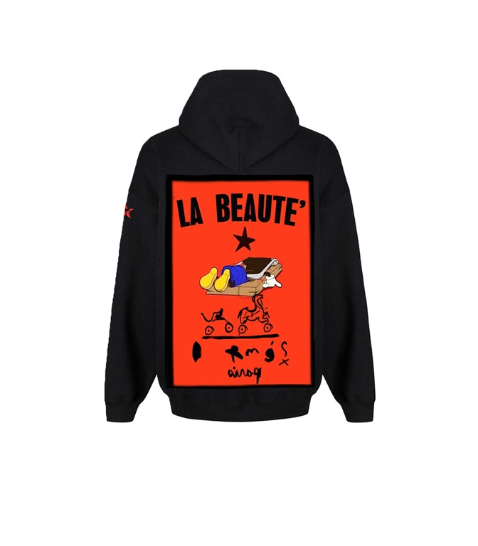 Bastille - Felpe - felpa con cappuccio beaute nera
