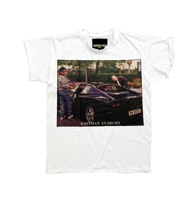 Bastille - T-Shirt - T-SHIRT ICON SUPERCAR 10 BIANCA