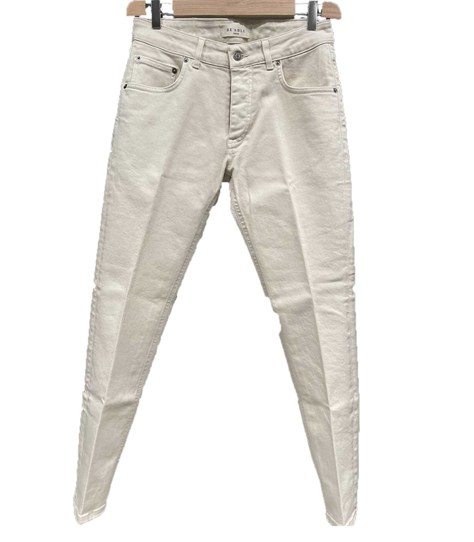 Be Able - Jeans - PANTALONE DAVIS SHORTER BIANCO ECRU