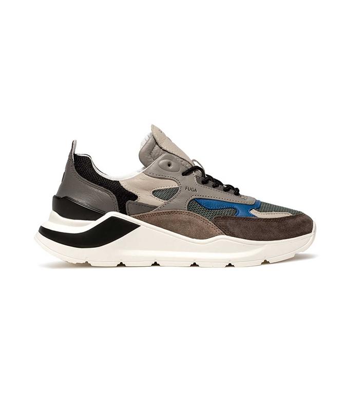 D.A.T.E. - Scarpe - Sneakers - FUGA MESH VERDE MILITARE
