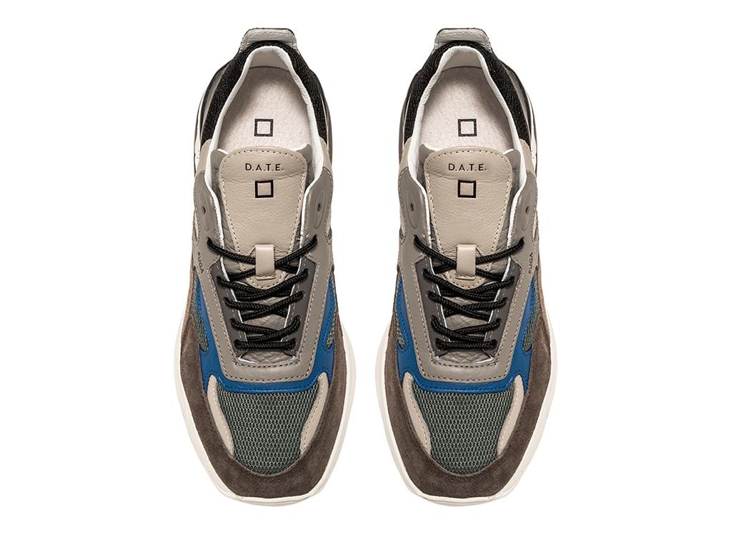 D.A.T.E. - Scarpe - Sneakers - fuga mesh verde militare 1