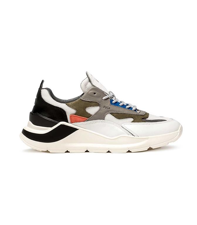 D.A.T.E. - Scarpe - Sneakers - fuga rush bianca-blu