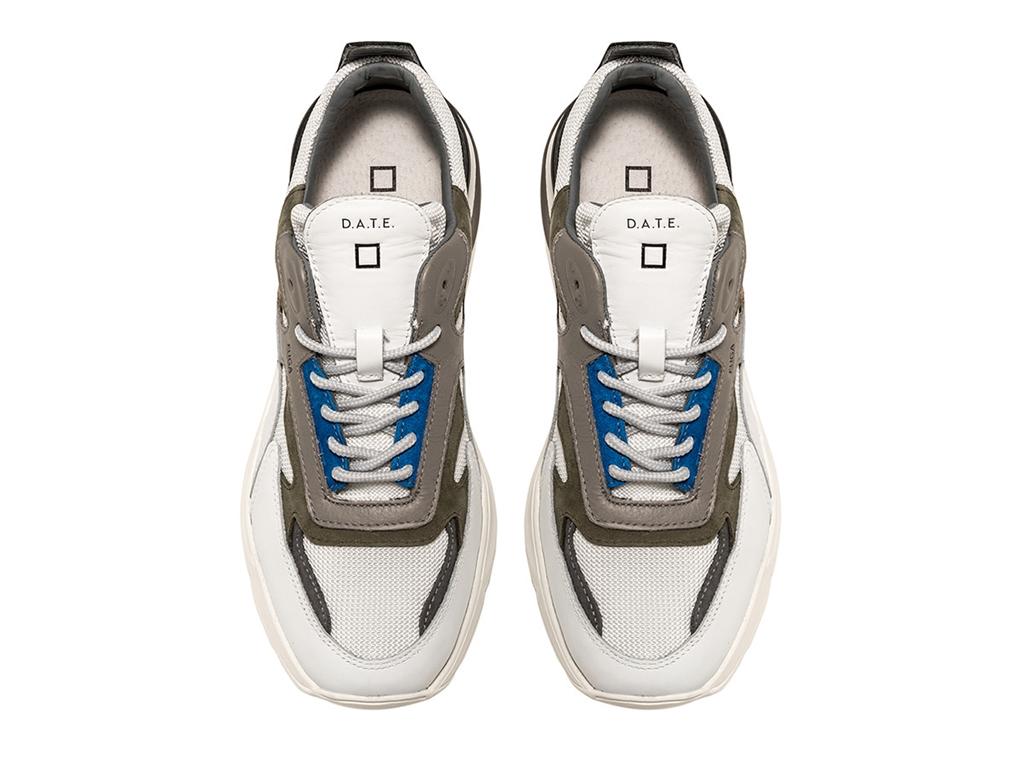 D.A.T.E. - Scarpe - Sneakers - fuga rush bianca-blu 1