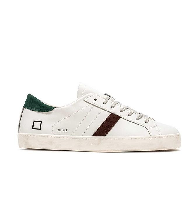 D.A.T.E. - Scarpe - Sneakers - hill low calf bianca-verde