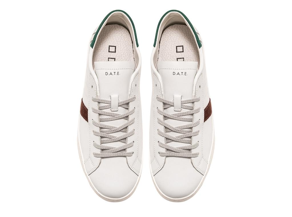 D.A.T.E. - Scarpe - Sneakers - hill low calf bianca-verde 1