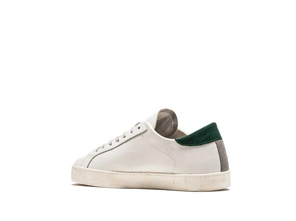 D.A.T.E. - Scarpe - Sneakers - hill low calf bianca-verde 2