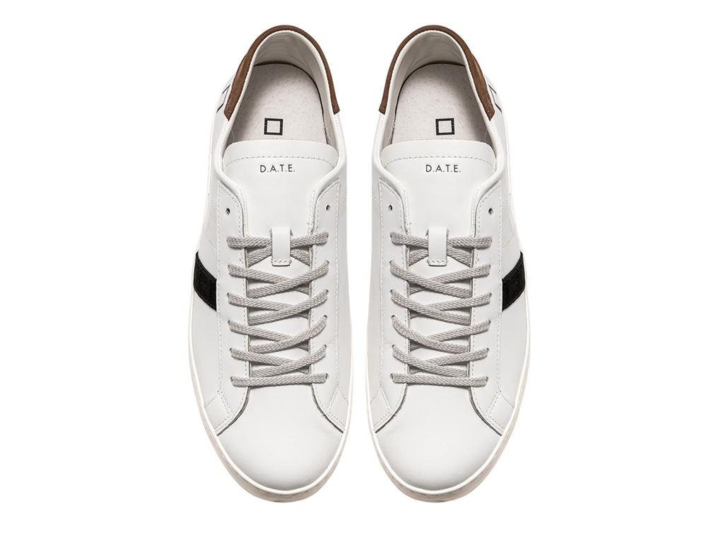 D.A.T.E. - Scarpe - Sneakers - hill low calf bianca-t.moro 1