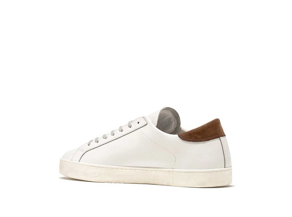 D.A.T.E. - Scarpe - Sneakers - hill low calf bianca-t.moro 2