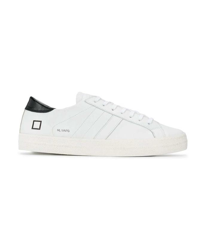 D.A.T.E. - Scarpe - Sneakers - hill low vintage calf bianca-nera