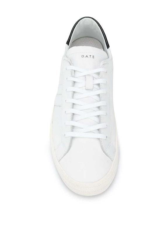 D.A.T.E. - Scarpe - Sneakers - hill low vintage calf bianca-nera 1