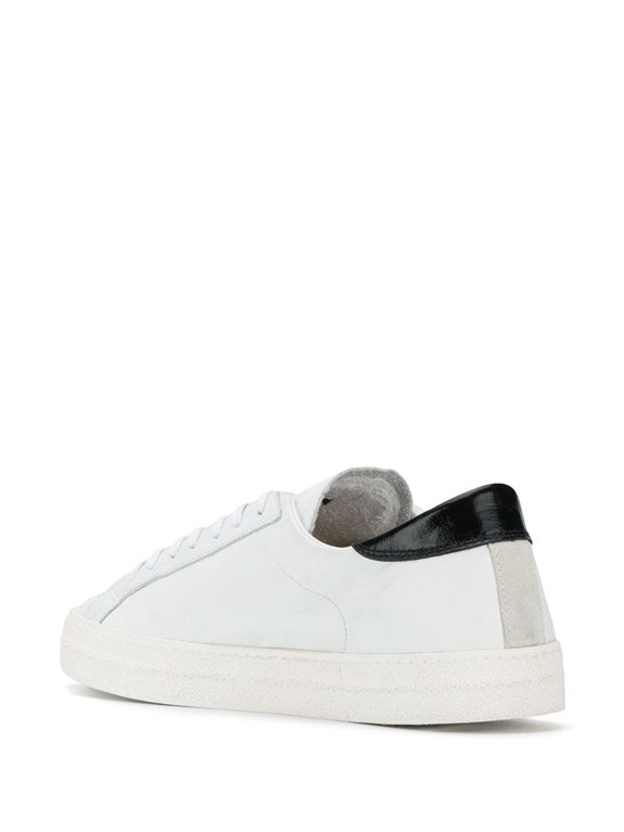 D.A.T.E. - Scarpe - Sneakers - hill low vintage calf bianca-nera 2