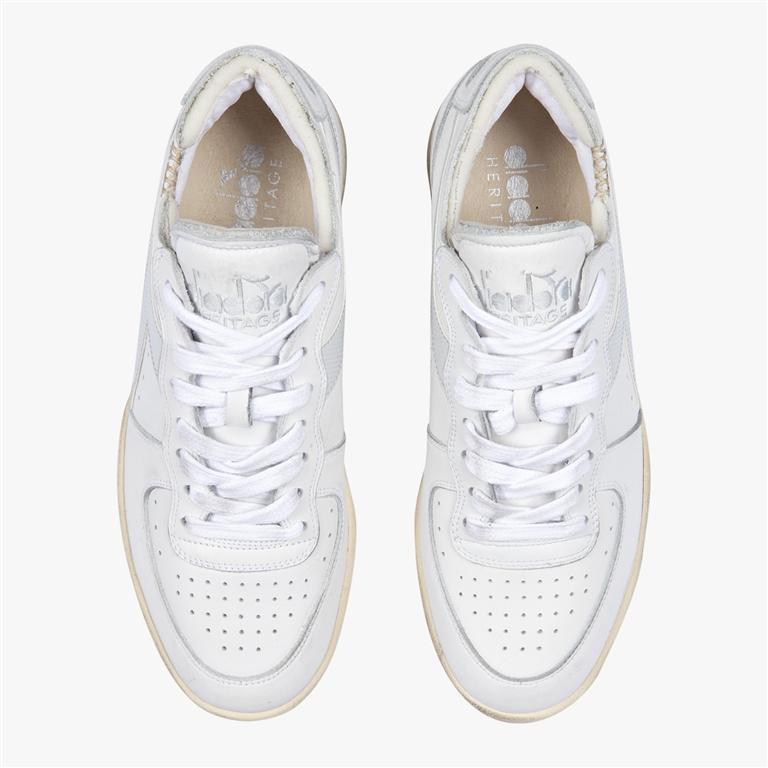 Diadora Heritage - Scarpe - Sneakers - mi basket row cut bianca 1