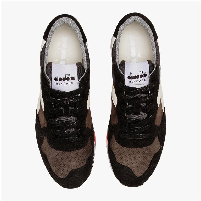 Diadora Heritage - Scarpe - Sneakers - trident 90 leather nera 1