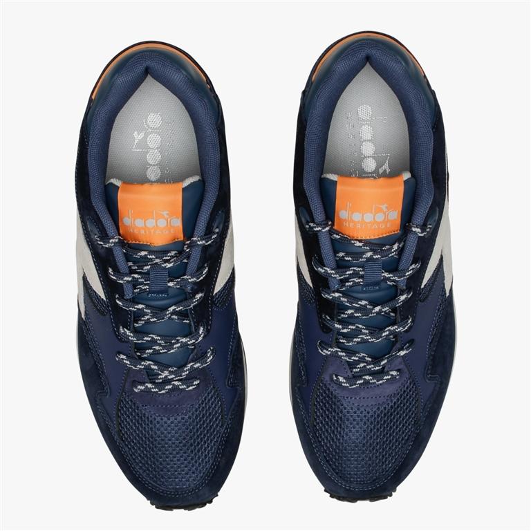 Diadora Heritage - Scarpe - Sneakers - eclipse premium blu-arancio 1