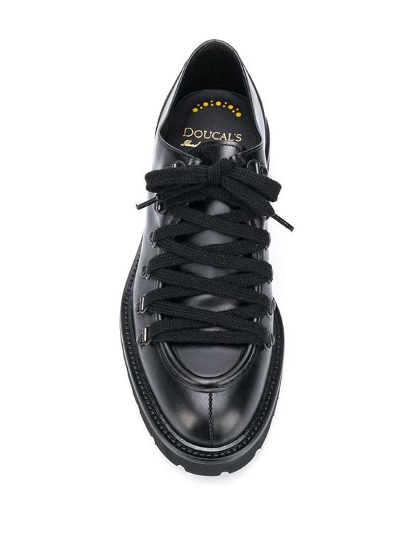 Doucal's - Scarpe - Sneakers - stringata a punta smussata nera 1
