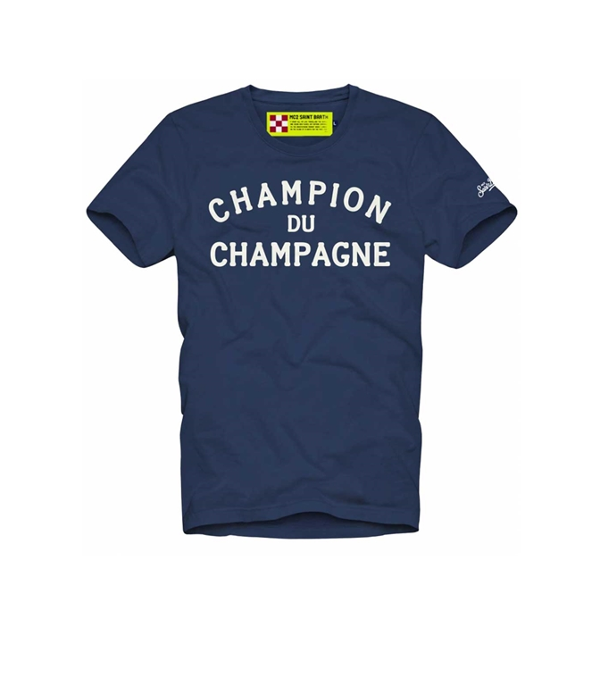 Mc2 Saint Barth - T-Shirt - t-shirt blu champion du champagne