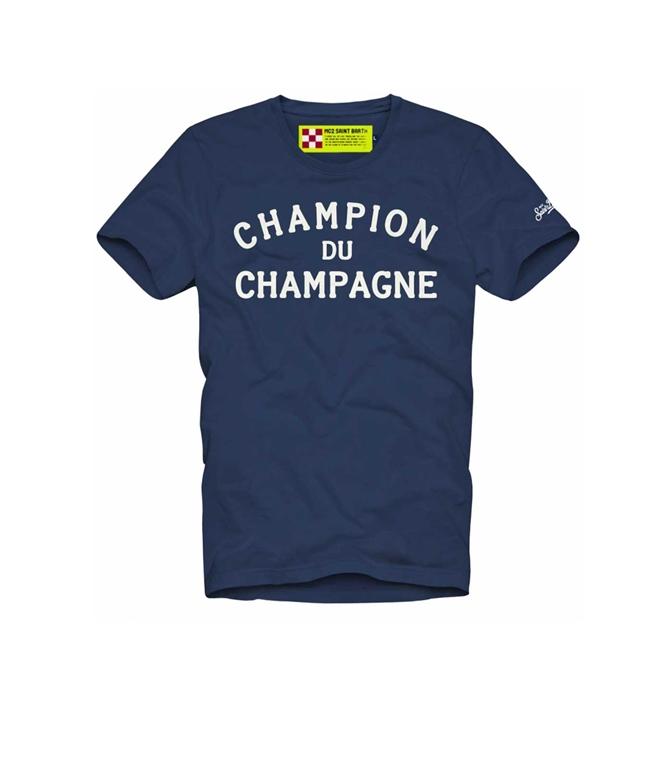 Mc2 Saint Barth - T-Shirt - t-shirt blu champion du champagne