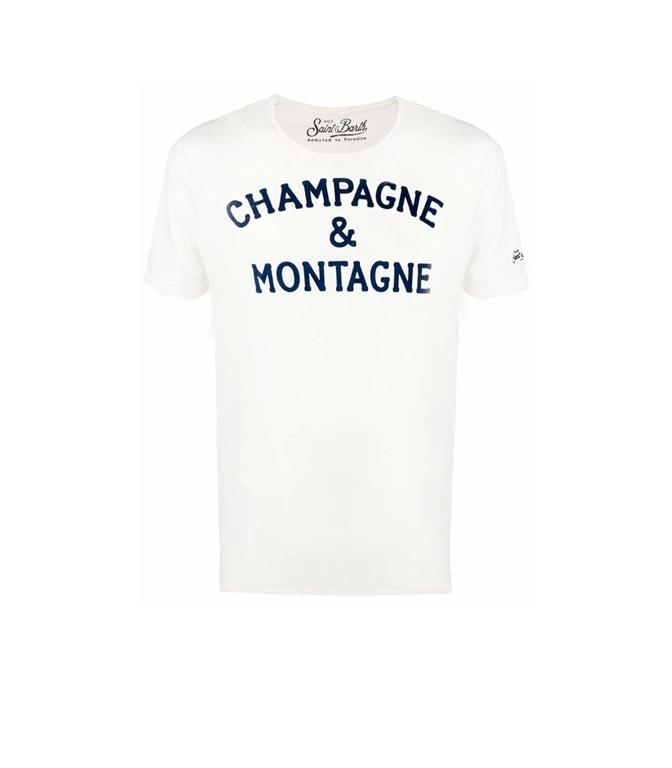 Mc2 Saint Barth - T-Shirt - T-SHIRT BEIGE CHAMPAGNE & MONTAGNE