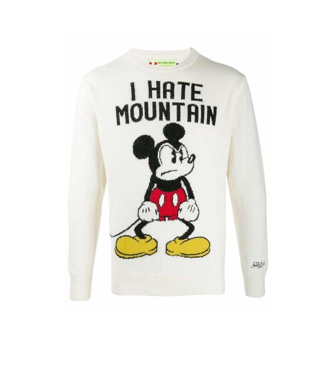 Mc2 Saint Barth - Maglie - maglione bianco scuro topolino - edizione speciale disney®