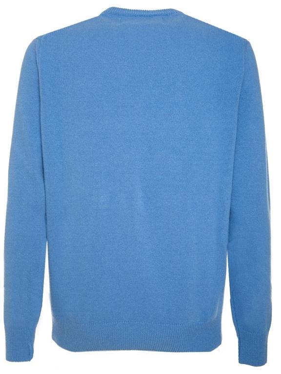 Mc2 Saint Barth - Maglie - maglione azzurro cortina postcard 1
