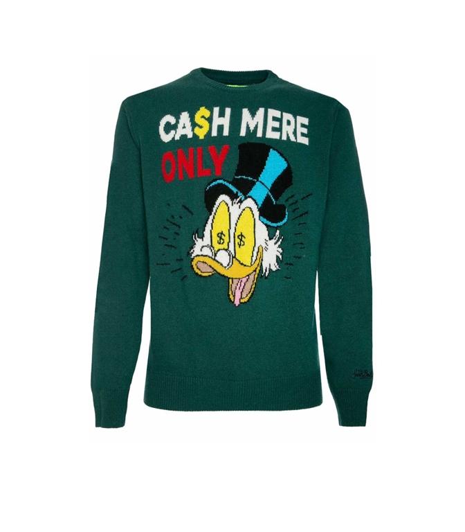 Mc2 Saint Barth - Maglie - maglione verde cash mere only - edizione speciale disney®