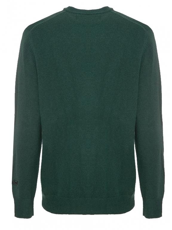 Mc2 Saint Barth - Maglie - maglione verde ricamo champagne & montagne 1