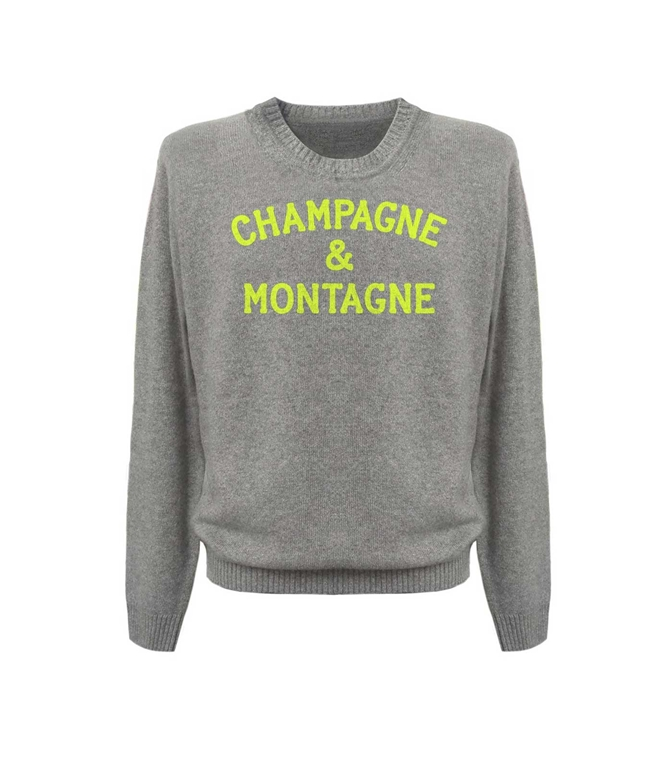 Mc2 Saint Barth - Maglie - MAGLIA GRIGIA CHAMPAGNE & MONTAGNE