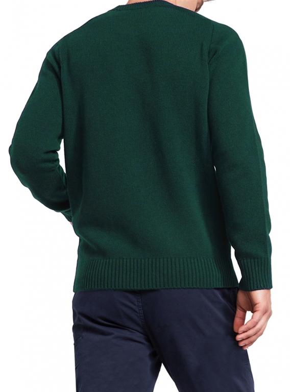 Mc2 Saint Barth - Maglie - maglione uomo champagne & montagne verde 1