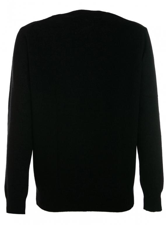 Mc2 Saint Barth - Maglie - maglione nero stampa champagne & montagne degrade 1