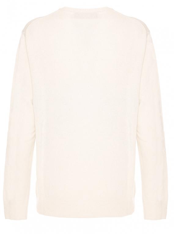 Mc2 Saint Barth - Maglie - maglione bianco stampa st. mortiz postcard 1