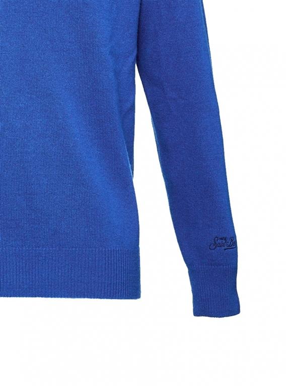 Mc2 Saint Barth - Maglie - maglione blu stampa roccaraso cortina 1