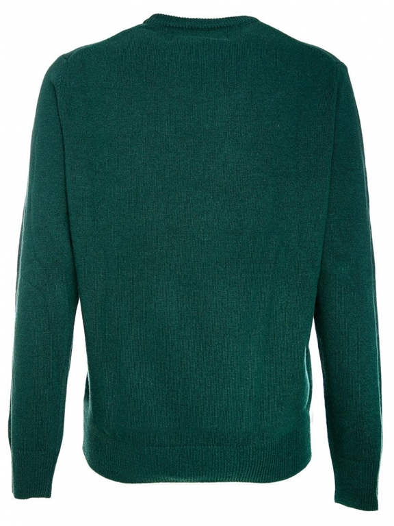 Mc2 Saint Barth - Maglie - maglione verde stampa snoopy after xmas® 1