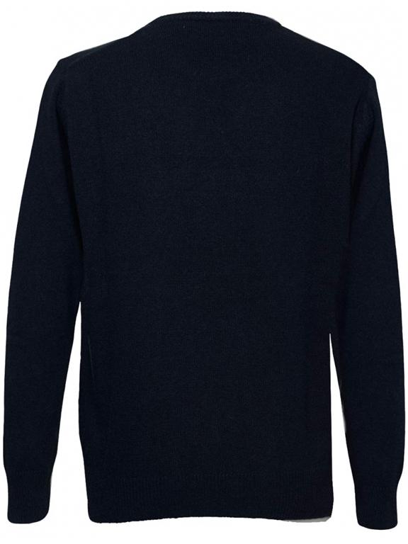 Mc2 Saint Barth - Maglie - maglione blu stampa winter mood 1
