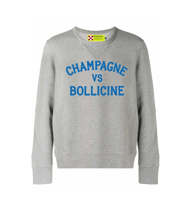 Mc2 Saint Barth - Felpe - felpa grigia champagne vs bollicine