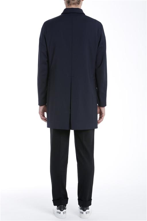 Paolo Pecora - Cappotto - cappotto tessuto blu 1
